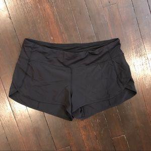 EUC Black Lululemon Speed Shorts